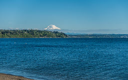 Puget Sound And Mountain. Mount Rainier can be seen across the Puget Sound Stock Photography