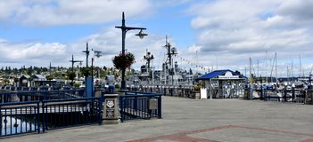 Puget Sound Naval Shipyard Memorial Plaza, Bremerton, Washington royalty free stock image