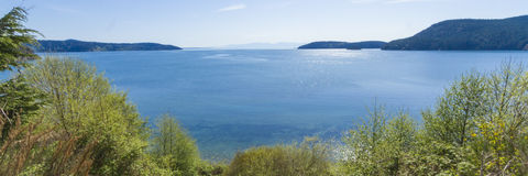 Puget Sound och Sanen Juan Islands Arkivbilder