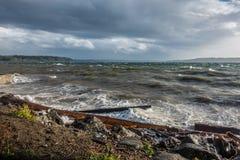 Puget Sound orageux images libres de droits