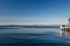 Puget Sound. Seattle Puget Sound on a clear day Royalty Free Stock Photography