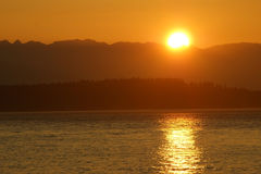 Puget Sound Sunset Stock Photography