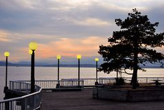 Puget sound sunset. Royalty Free Stock Photos