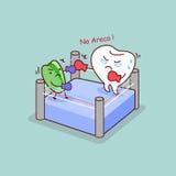Pugilato del dente del fumetto con l'areca Fotografie Stock