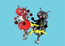 Pugilato della formica Fotografia Stock