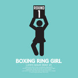 Pugilato Ring Girl Symbol Fotografie Stock
