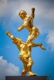Pugilato tailandese del monumento Fotografia Stock