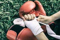 Pugilato, tendenza di sport di risolvere di perdita di peso fotografia stock