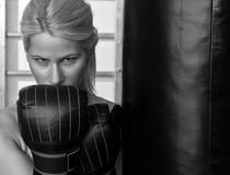 Pugile della donna Fotografia Stock