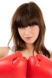Pugile femminile Immagine Stock