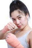 Pugile femminile Immagini Stock