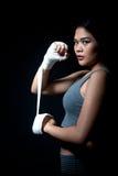 Pugile femminile asiatico Immagini Stock Libere da Diritti