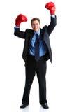 Pugilista do homem de negócios Fotos de Stock Royalty Free