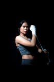 Pugilista fêmea asiático Fotos de Stock Royalty Free