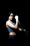 Pugilista fêmea asiático Foto de Stock