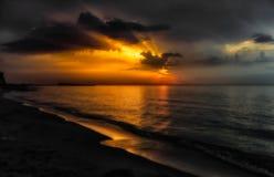 Puglia Brzegowy pobliski Marina Di Lesina Obraz Royalty Free