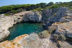 Puglia, Italia, August2018, islas de Tremiti imagenes de archivo