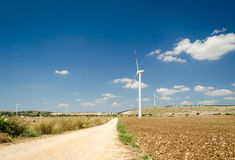 Puglia, landscape with windmills Royalty Free Stock Image