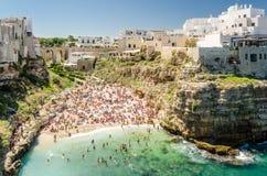 Puglia, Polignano klacz zdjęcie royalty free