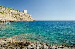 Puglia, Porto Selvaggio Fotografia Stock