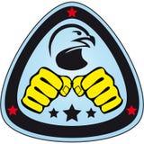Pugni di arti marziali di simbolo, falco, aquila. Immagine Stock