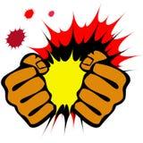 Pugni di resistenza, emblema di arti marziali. Vettore. Immagine Stock Libera da Diritti