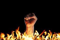 Pugno del fuoco Immagine Stock