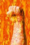 Pugno del fuoco Fotografie Stock Libere da Diritti