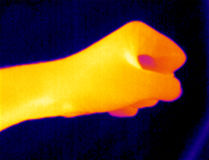 Pugno del termografo Fotografia Stock Libera da Diritti