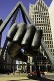 Pugno di famos di Joe Louis a Detroit fotografie stock libere da diritti