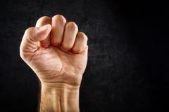 Pugno di protesta di tumulto fotografia stock libera da diritti