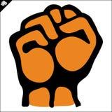 Pugno. le arti marziali simbolizzano, simbolo. Vettore. Immagini Stock Libere da Diritti