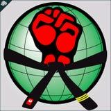 Pugno. le arti marziali simbolizzano, simbolo. Vettore. Immagini Stock