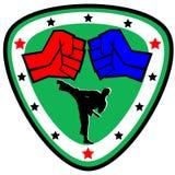 Pugno. le arti marziali simbolizzano, simbolo. Vettore. Fotografia Stock Libera da Diritti