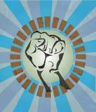 Pugno, mano, rivoluzione, colpo Immagine Stock Libera da Diritti