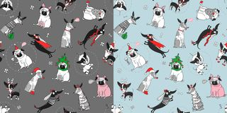 pugs royalty-vrije illustratie