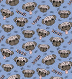 Pugs seamless pattern Stock Images