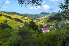 Puhoi Village Auckland New Zealand. View to Puhoi Village Auckland New Zealand from Uphill Stock Images