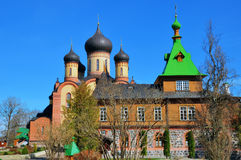 Puhtica orthodox monastery. In Kuremae, Estonia Stock Photo