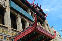 Pui Tak Centre In Chinatown. This photo was taken during Chinatown Summer Fair in Chicago, Illinois Stock Photography