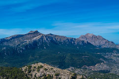 Puig de Massanella e major em montanhas de Tramuntana, Mallorca, Espanha Imagem de Stock