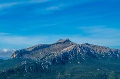 Puig de Massanella em montanhas de Tramuntana, GR 221, Mallorca, Espanha Imagem de Stock