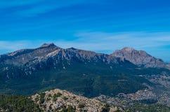 Puig DE Massanella en Majoor in Tramuntana-bergen, Mallorca, Spanje Stock Afbeelding