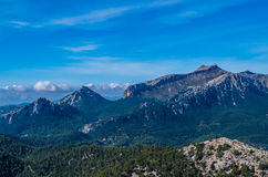 Puig de Massanella in Tramuntana mountains, GR 221, Mallorca, Spain royalty free stock photos