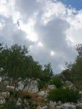 Puig de sa Morisca Moorish Peak archaeological park in Majorca Stock Images