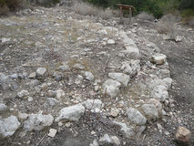 Puig de sa Morisca Moorish Peak archaeological park in Majorca Royalty Free Stock Photo