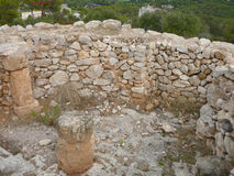Puig de sa Morisca Moorish Peak archaeological park in Majorca Stock Photo
