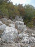 Puig de sa Morisca (Moorish Peak) archaeological park in Majorca. Ancient ruins in Puig de sa Morisca (meaning Moorish Peak) archaeological park in Majorca Stock Images
