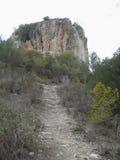 Puig DE sa Morisca Moors Piek archeologisch park in Majorca royalty-vrije stock afbeelding