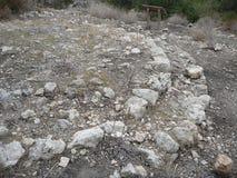 Puig DE sa Morisca Moors Piek archeologisch park in Majorca royalty-vrije stock foto